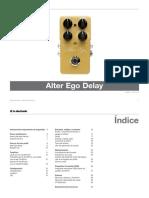 Tc Electronic Alter Ego Delay Manual Spanish