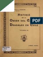 """Chile, """"Historia de la Orden del Carmen Descalzo en Chile, 1899 - 1935"""", Tomo 2"""