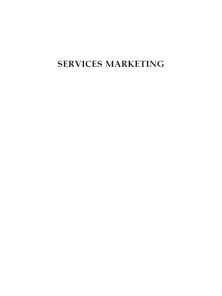 Services marketing notespdf goods marketing fandeluxe Image collections