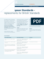 New European Standards Replacements for British Standards