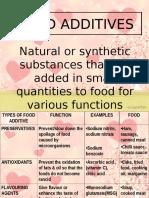 Food Additives Presentation