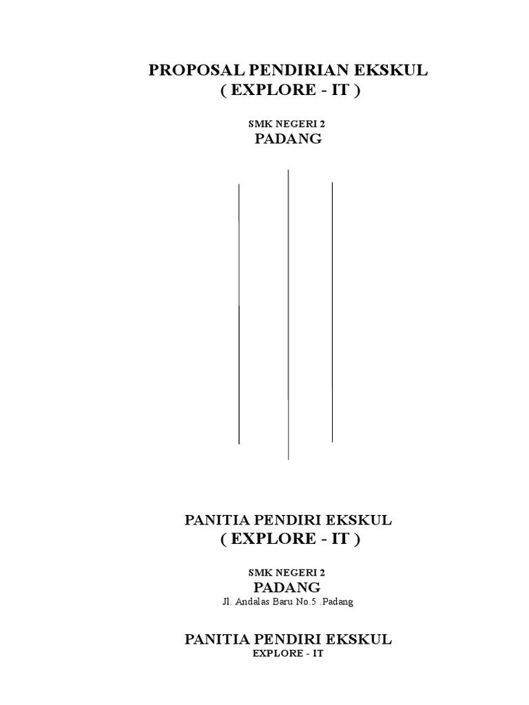 Contoh Proposal Pendirian Ekskul It Smk 2 Padang