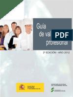 INSS Guía Valoración Profesional 2 Edición 2012