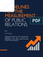 Guidelines Measurement Public Relations