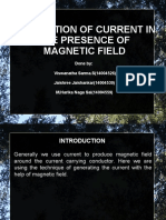Production of current due to magnetic field