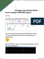Contoh Perhitungan Dan Desain Balok Beton Dengan SAP2000 (Bag 1)