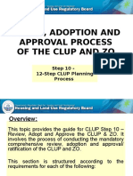 CLUP Review Process and Parameters
