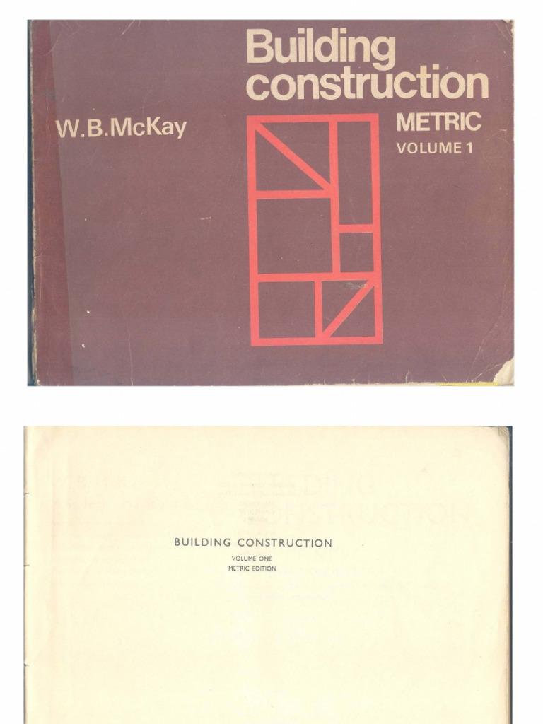 Construction mckay 1 pdf volume building