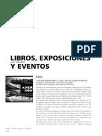 Libros exposiciones y eventos