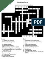 Vocabulary Puzzle