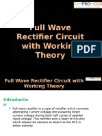 Full Wave Rectifier Circuit Working and Theory