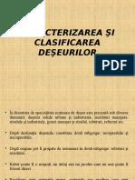 Seminar 1-Clasificarea Deseurilor