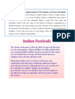 Diwali is the Biggest Light Festival of the Hindus in All Over the World