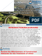 Review the Effectiveness of Constructed Wetlands for the Treatment of Either Municipal Wastewater