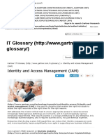 Identity Management - Access Management - Gartner Research
