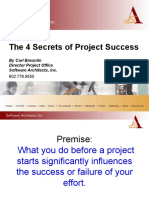 Four Secrets Project Success