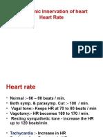 Autonomic Control & Heart Rate
