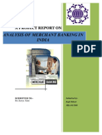 Analysis of Merchant Banking in India