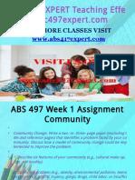 ABS 497 EXPERT Teaching Effectively/abs497expert.com