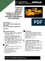2 MW Containerised Diesel Gen