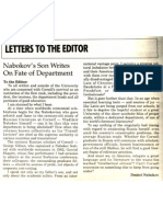 Nabakov's Letter to the Editor