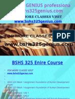BSHS 325 GENIUS Professional Tutor Bshs325genius.com