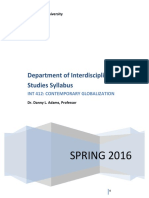 int412 - contemporary gloabalization - syllabus spring 2016