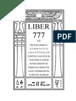 Aleister Crowley - Liber Dcclxxvii Liber 777