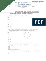 PRUEBA COEFICIENTE 1- Probabilidades, Variable Aleatoria