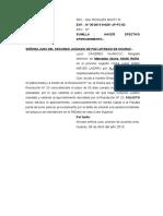 Absuelve Observacion a La Liquidacion - Mercedes Yauri Ropa