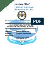 Datos Generales de La Empresa de Transporte Turismo Real Bus
