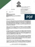 Carta Procurador al MinJusticia