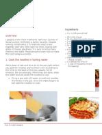 how to make lasagna english and computers