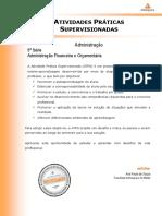 ATPS 2016 1 Administracao 5 Administracao Financeira Orcamentaria