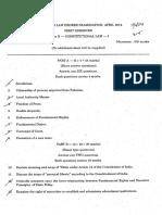 2014 Const - Yogi Vemana University Kadapa-LLB-Constitutional Law-2014 Apr-cnRamesh