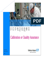 Calibration or Quality assurance - Endress+Hauser