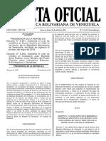 Gaceta Oficial Extraordinaria Nº 6.224