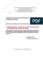 A Explicación Primer Producto Estructura Del Informe de Tematica