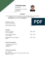 Carlos Daniel curriculum