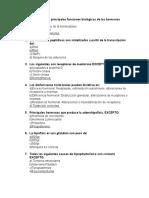 Cuestionario Funciones Hormonales Especificas
