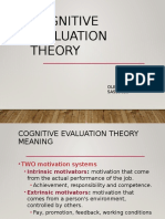 Cognitive Evaluation Theory (2)