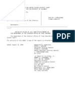 US Department of Justice Court Proceedings - 08152006 notice
