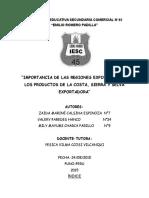 Monografia Selva Costa Sierra