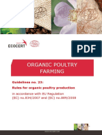 Poultry Breeding Ecocert Guidelines