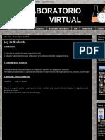 Laboratorio Virtual- Ley de Coulomb