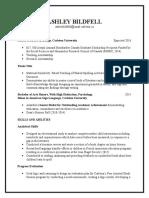 a bildfell resume-april 18 2016