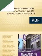 Wakaf Sosial, Wakaf Produktif SINERGI Foundation
