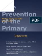 Safe Prevention of Primary Cesarean Section