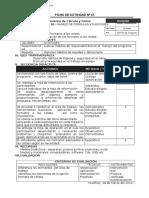 Ficha de Actividad Excel 2010