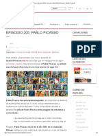 Learn Spanish While You Learn About Pablo Picasso _ Spanish Podcast